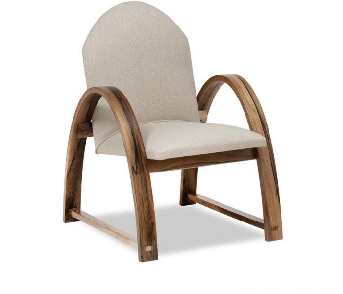 """Meuble design Fauteuil -  Armchair """"Ellipse"""" couleur crème"""