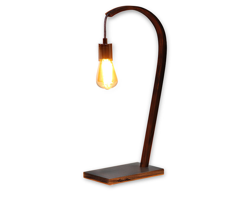 "Lighting - Walnut wood lamp ""Momentum"""