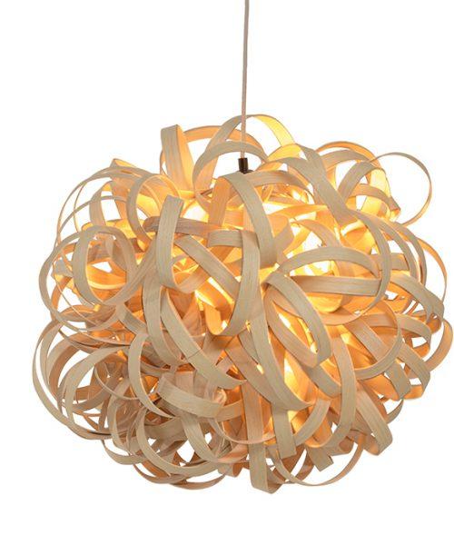 "Luminaire - Lustre - Lighting ash wood ""Infinity"" en bois de frêne"