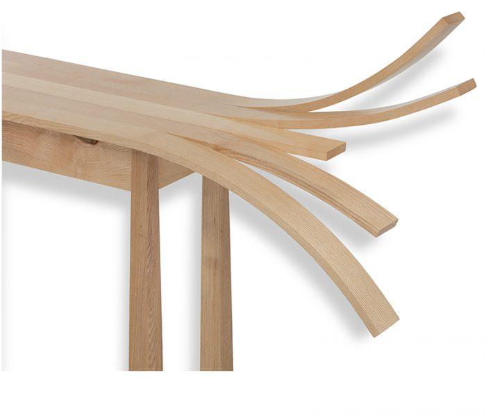 """Mobilier Design en bois de frêne - Console """"Éclat"""" - in ash wood"""