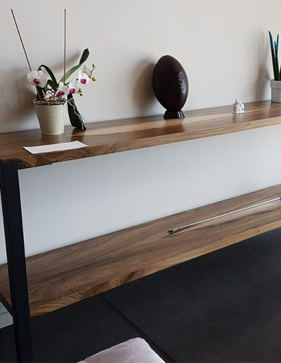 Console -  Bespoke walnut and metal furniture