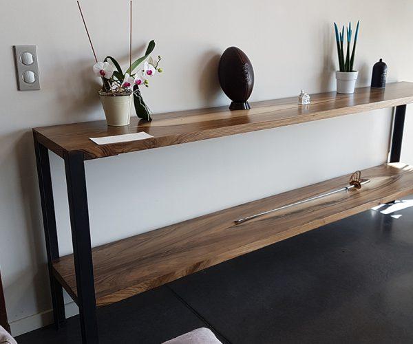 Meuble Design  - console en bois  - Réalisation Sur-Mesure  Bespoke design - wooden furniture