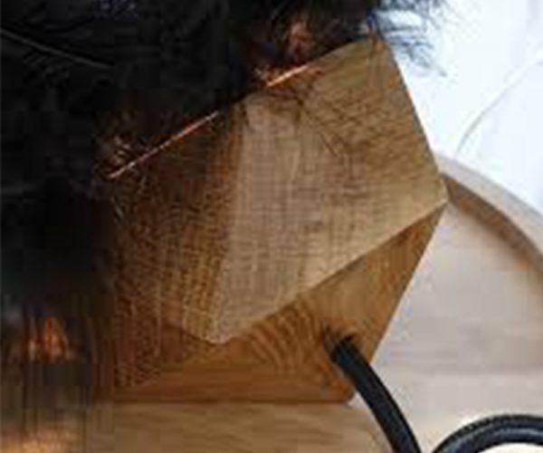"Pied de lampe sur-mesure -Custom-made lamp base (réalisation  ""chardon"" Valérie Tanfin Artisan d'Art)"