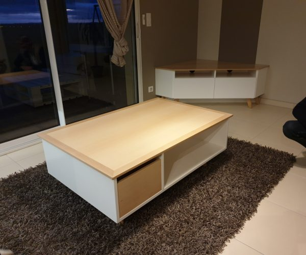 Meuble Sur-mesure Table de Salon - Customized Furniture Lounge Table