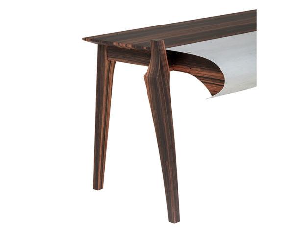 Upcycling - Bureau touch and go ébène de macassar - Touch and go desk ebony