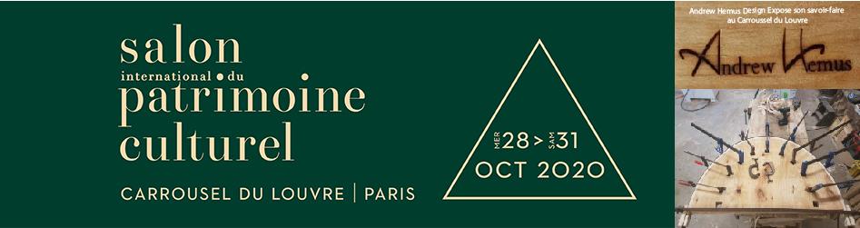 Andrew Hemus Design Expose pour Les Atelier d'Arts de Francesalon et patrimoine culturel au Carrousel du Louvre à Paris l