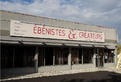 """Showroom front of the """"Ébénistes et Créateurs"""""""