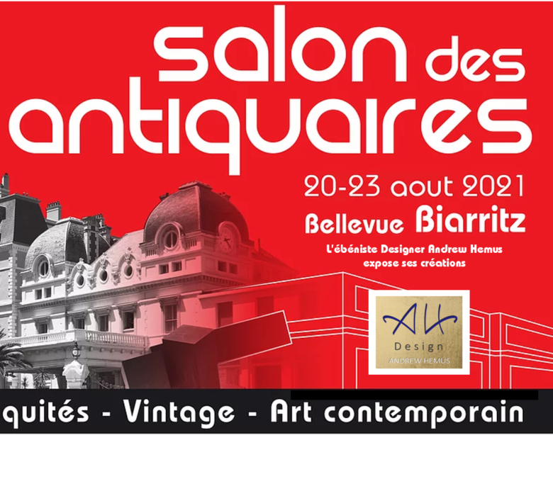 """Andrew Hemus Design exhibits at the """"Salon des Antiquaires"""" in Biarritz"""