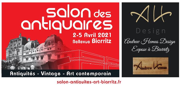 Salon des antiquaires de Biarritz Andrew Hemus Design Expose