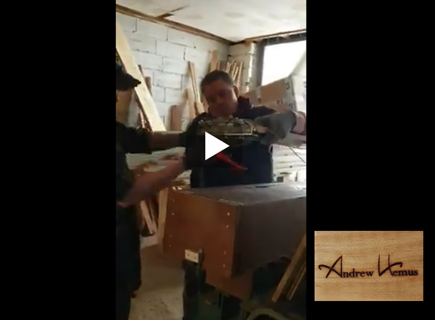 Watch the Atelier Andrew Hemus Design Facebook video, his specialty!